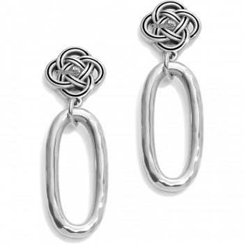 INTERLOK PETITE KNOT POST DROP EARRINGS