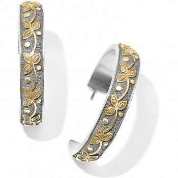 UDAIPUR PALACE TWO-TONE HOOP EARRINGS