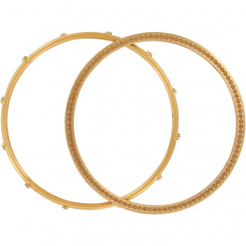 NEPTUNE'S RINGS PAVE BANGLE SET