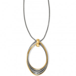 NEPTUNE'S RINGS TWIRL CONVERTIBLE PENDANT NECKLACE