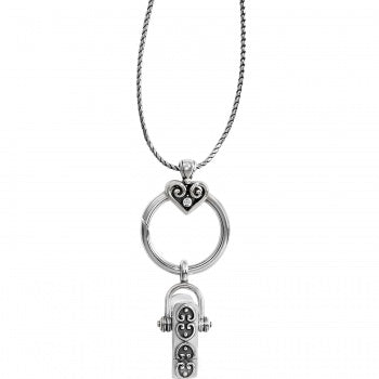 ALCAZAR CHARM BADGE CLIP NECKLACE