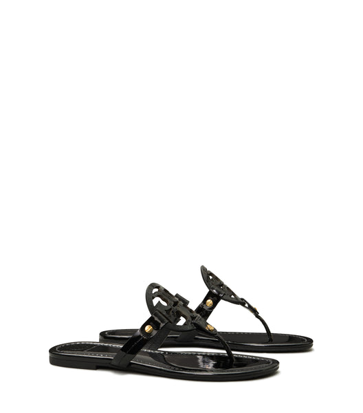 MILLER SANDAL PATENT LEATHER - BLACK