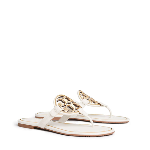 MILLER METAL - LOGO SANDAL LEATHER - BLEACH