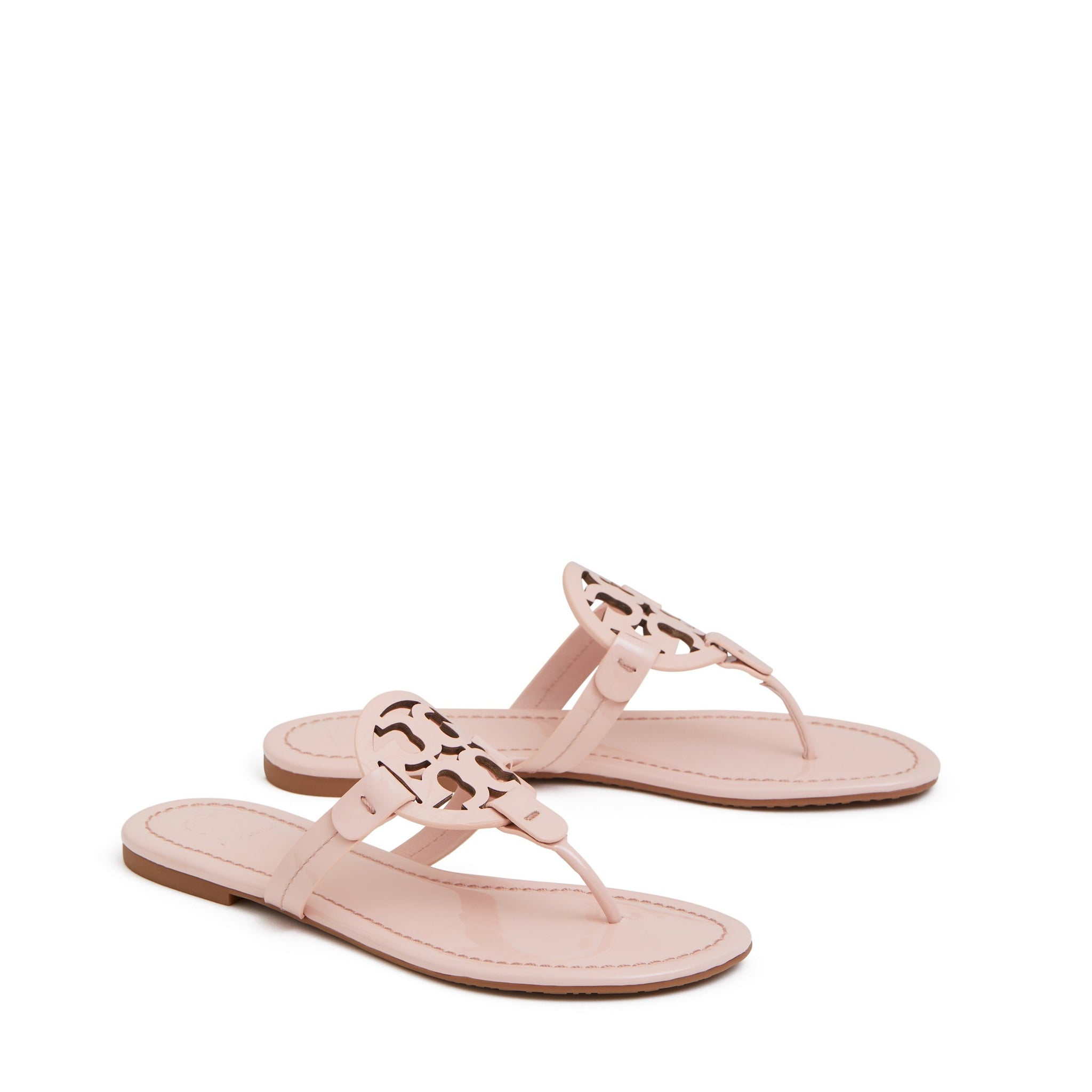 MILLER SANDAL PATENT LEATHER - SEA SHELL PINK