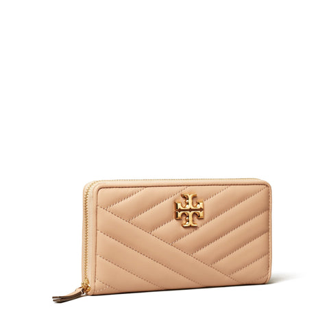 KIRA CHEVRON ZIP CONTINENTAL WALLET - DEVON SAND