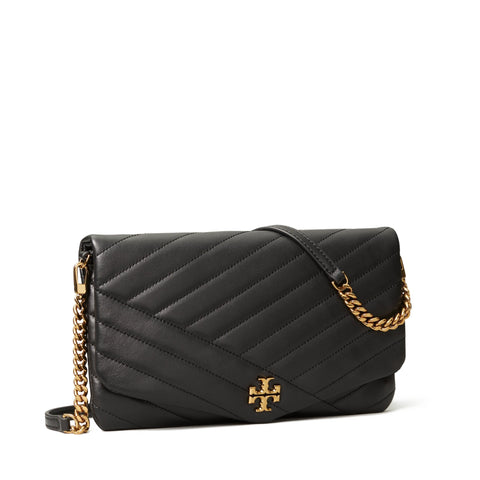 KIRA CHEVRON CLUTCH - BLACK