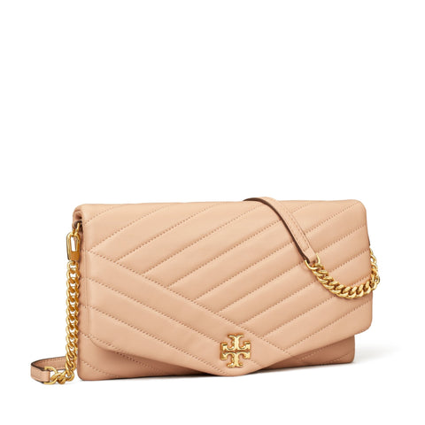 KIRA CHEVRON CLUTCH - DEVON SAND
