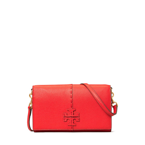 MCGRAW WALLET CROSSBODY - BRILLIANT RED