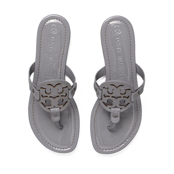 MILLER SANDAL PATENT LEATHER - MALTA GRAY