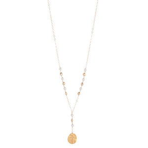 "28.5"" NECKLACE HONESTY - PEARL - INSPIRE GOLD CHARM"
