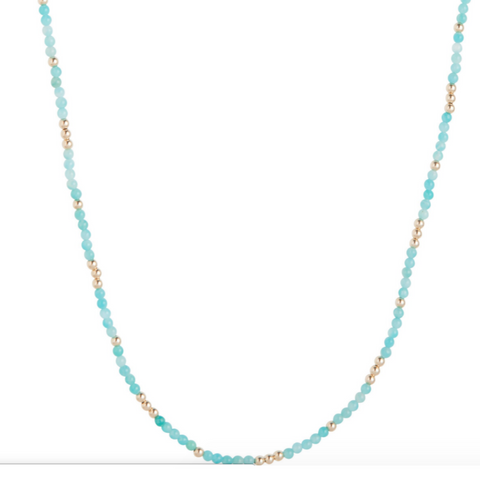 "41"" NECKLACE WORTHY PATTERN 4MM BEAD"