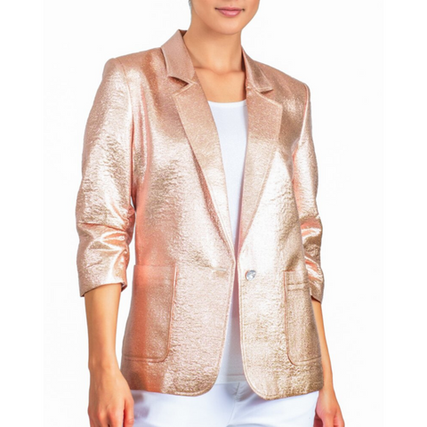 METALLIC PUSH UP BLAZER
