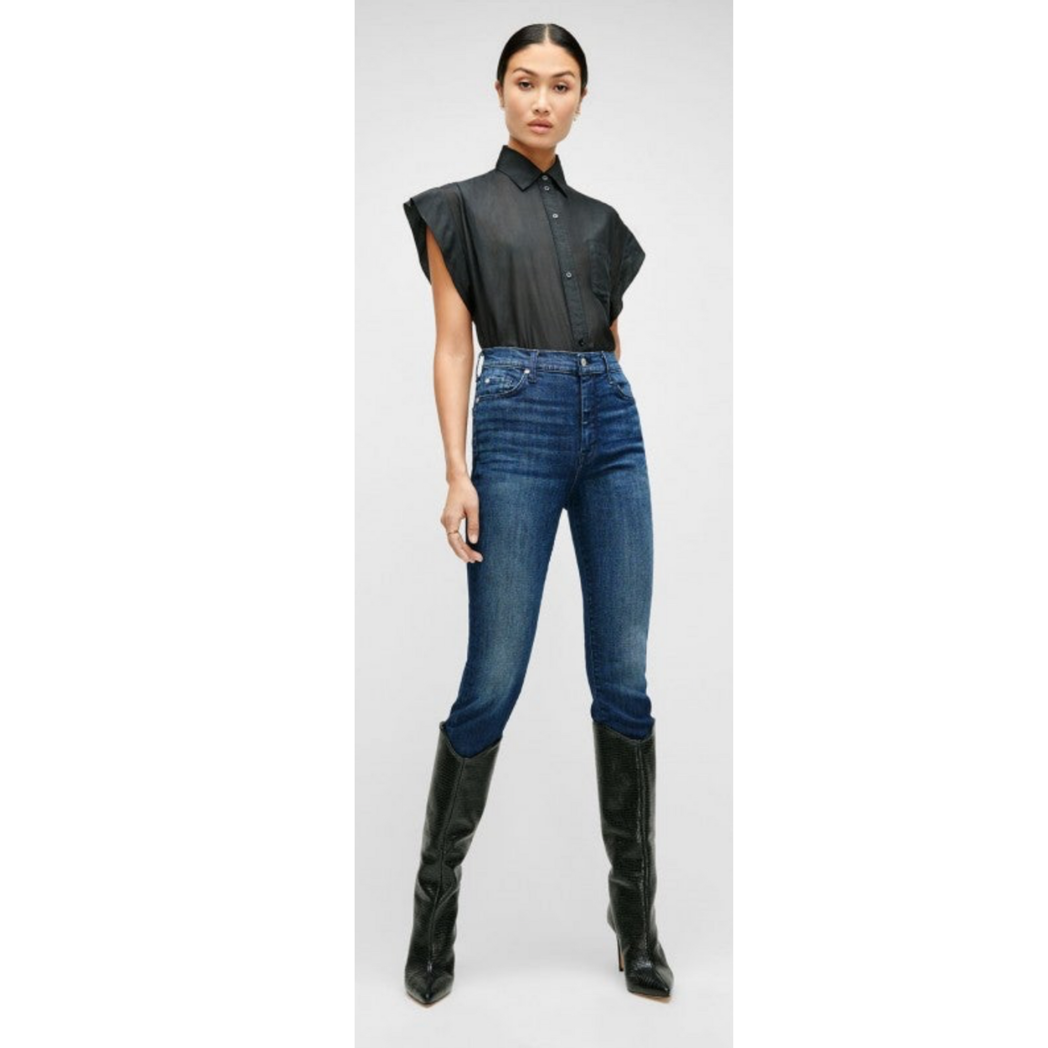 LUXE VINTAGE HIGH WAIST ANKLE SKINNY