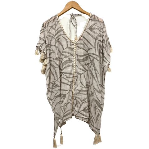 NEUTRAL PRINT 3/4 KAFTAN