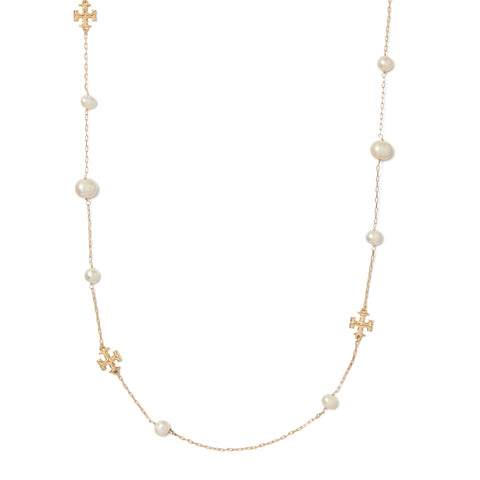 KIRA PEARL LONG NECKLACE - GOLD