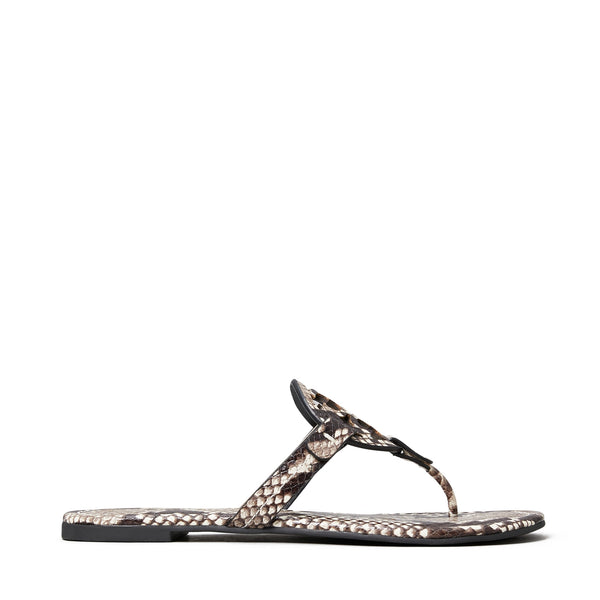 MILLER EMBOSSED LEATHER SANDAL - WARM ROCCIA