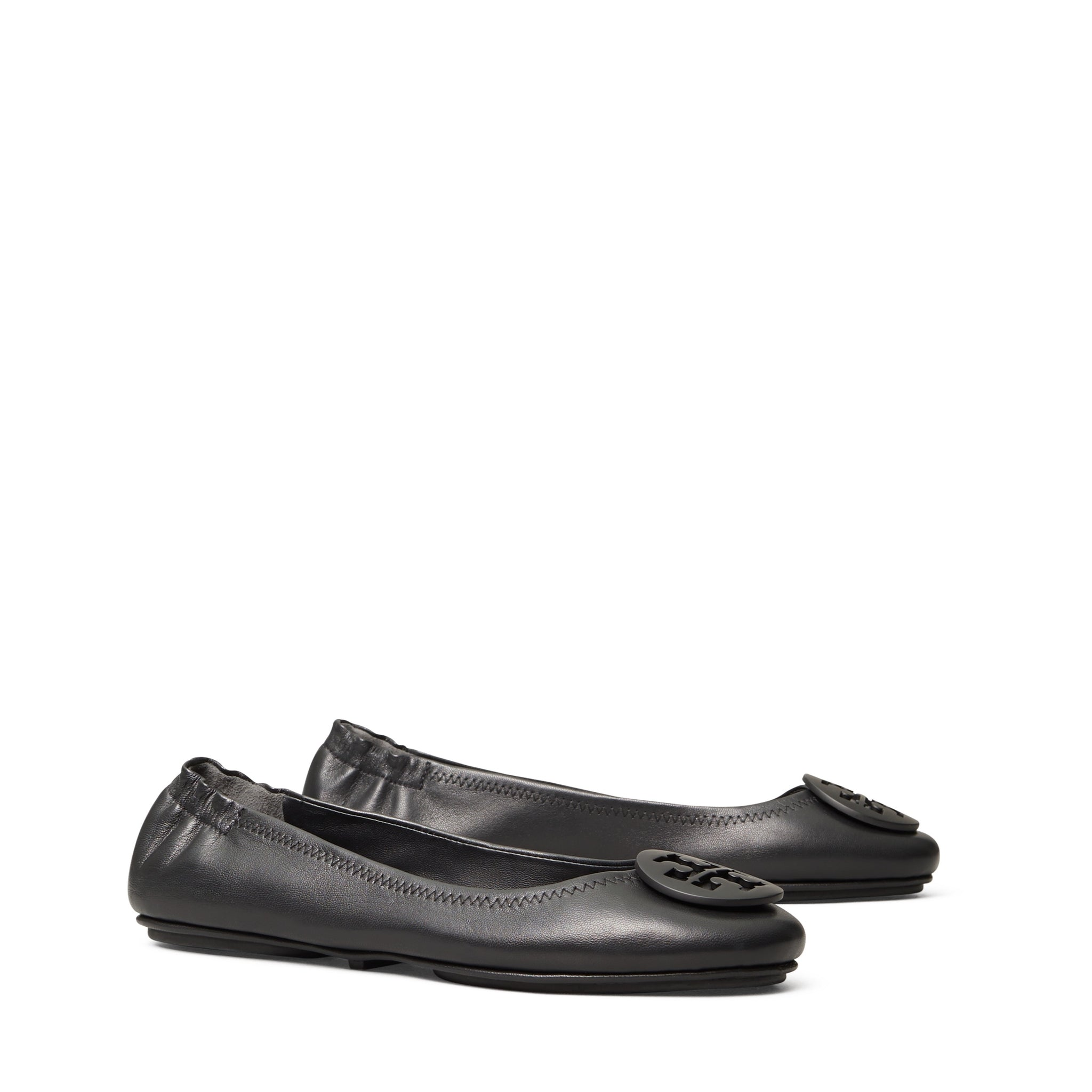 MINNIE TRAVEL BALLET FLAT LEATHER - PERFECT BLACK