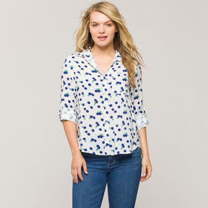 BLUEBERRY BUTTON-UP SHIRT