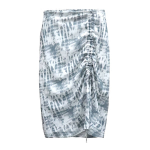 TIE DYE FRONT CINCH SKIRT