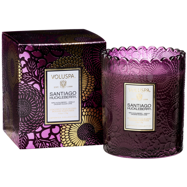 SANTIAGO HUCKLEBERRY - SCALLOPED EDGE CANDLE