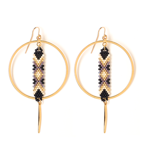 TIA BLACK EARRING