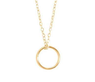 "16"" NECKLACE GOLD - HALO CHARM"