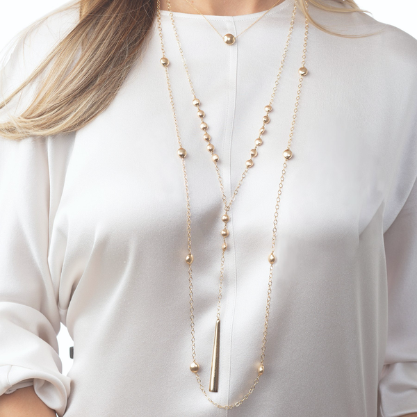 "41"" NECKLACE HONESTY - GOLD"