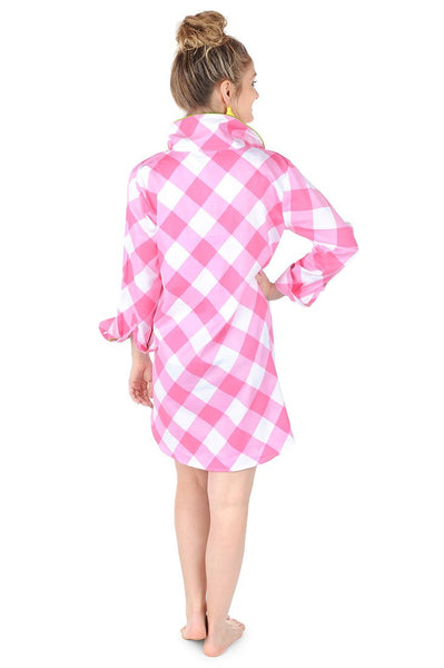 BUFFALO CHECK SATEEN SLEEP SHIRT