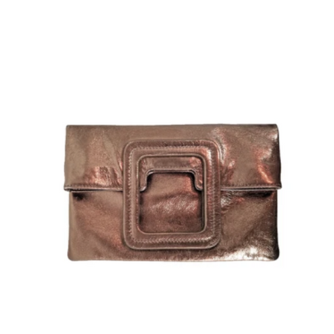 MATEO FOLD OVER CLUTCH & CROSSBODY - BRONZE