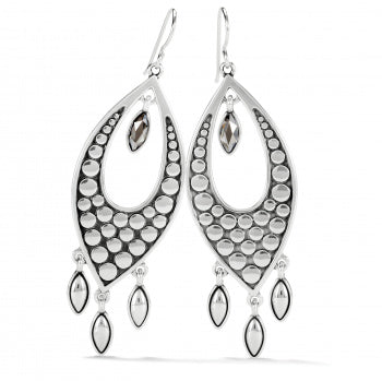 PEBBLE DISC MARQUISE STATEMENT EARRINGS