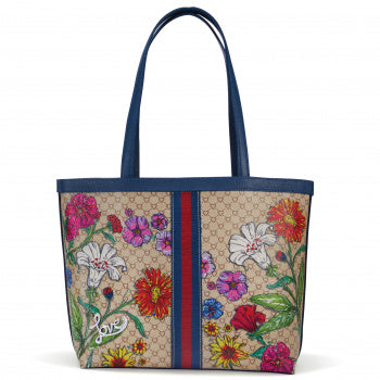 FIELD OF LOVE LARGE TOTE