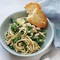 Tuscan Kale and White Bean Pasta: Fancy Weeknight