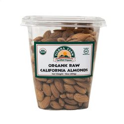 Organic Raw Almonds  1lb