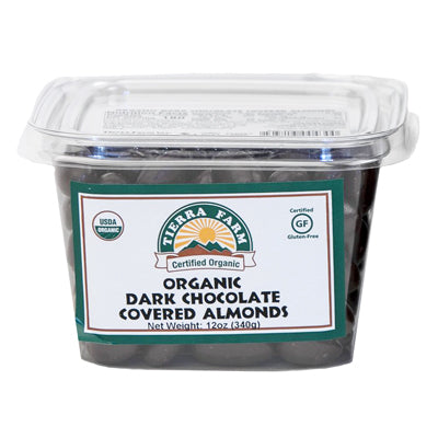 Almonds,  Organic Dark Chocolate Covered  12oz