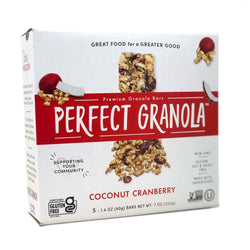 Coconut Cranberry Granola Bars Box of 5 1.4oz Bars