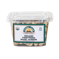 Organic Everything Bagel Cashews  1/2lb