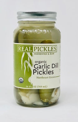 Organic Garlic Dill Pickles 26oz