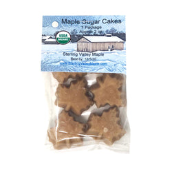 Organic Maple Sugar Cakes 2oz