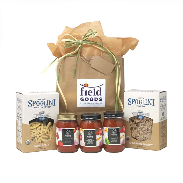 Hudson Harvest Pasta Sauce Sampler with Pasta