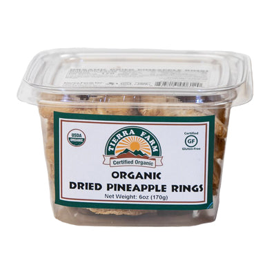 Organic Dried Pineapple Rings 6oz
