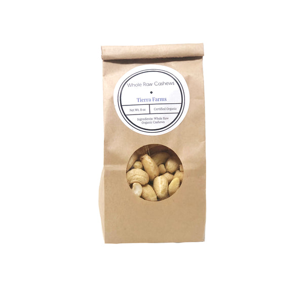 Organic Whole Raw Cashews 1lb
