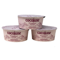 Organic Cultured Coconut Yogurt, Strawberry Rhubarb (3) 4oz Containers