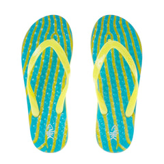 Ripples Flip Flops with Yellow Straps