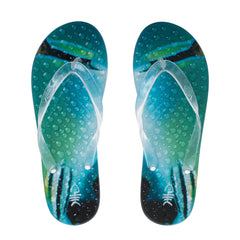 Pearl Flip Flops with Clear Straps