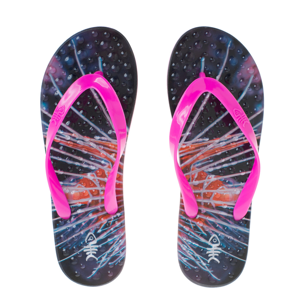 Sparkle Flip Flops with Pink Straps
