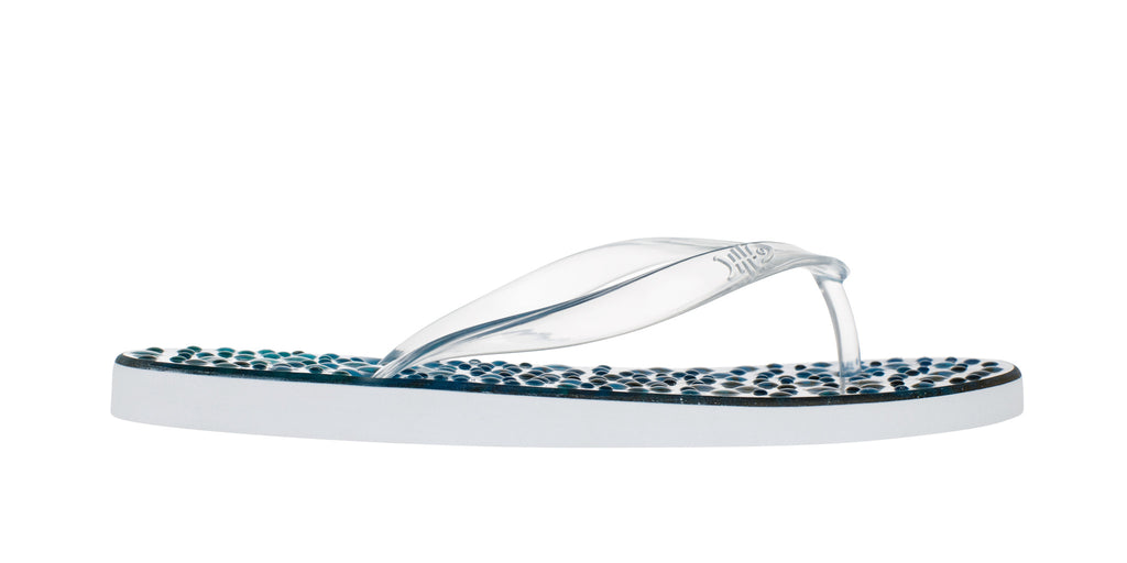 Kingfish Flip Flops with Clear Straps