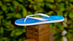 Kingfish Flip Flops with White Straps