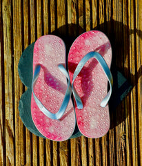 Siam Flip Flops with Silver Straps