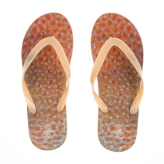 Sushi Flip Flops with Tangerine straps