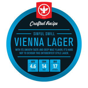 Sinful Swill Vienna Lager Recipe Kit